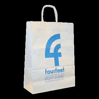 Papirsposer med logo tryk for fourfeet