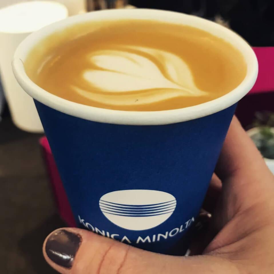 Papkrus med kaffe