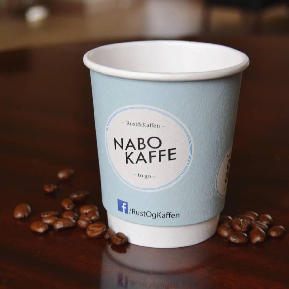 nabo kaffe papkrus med logo