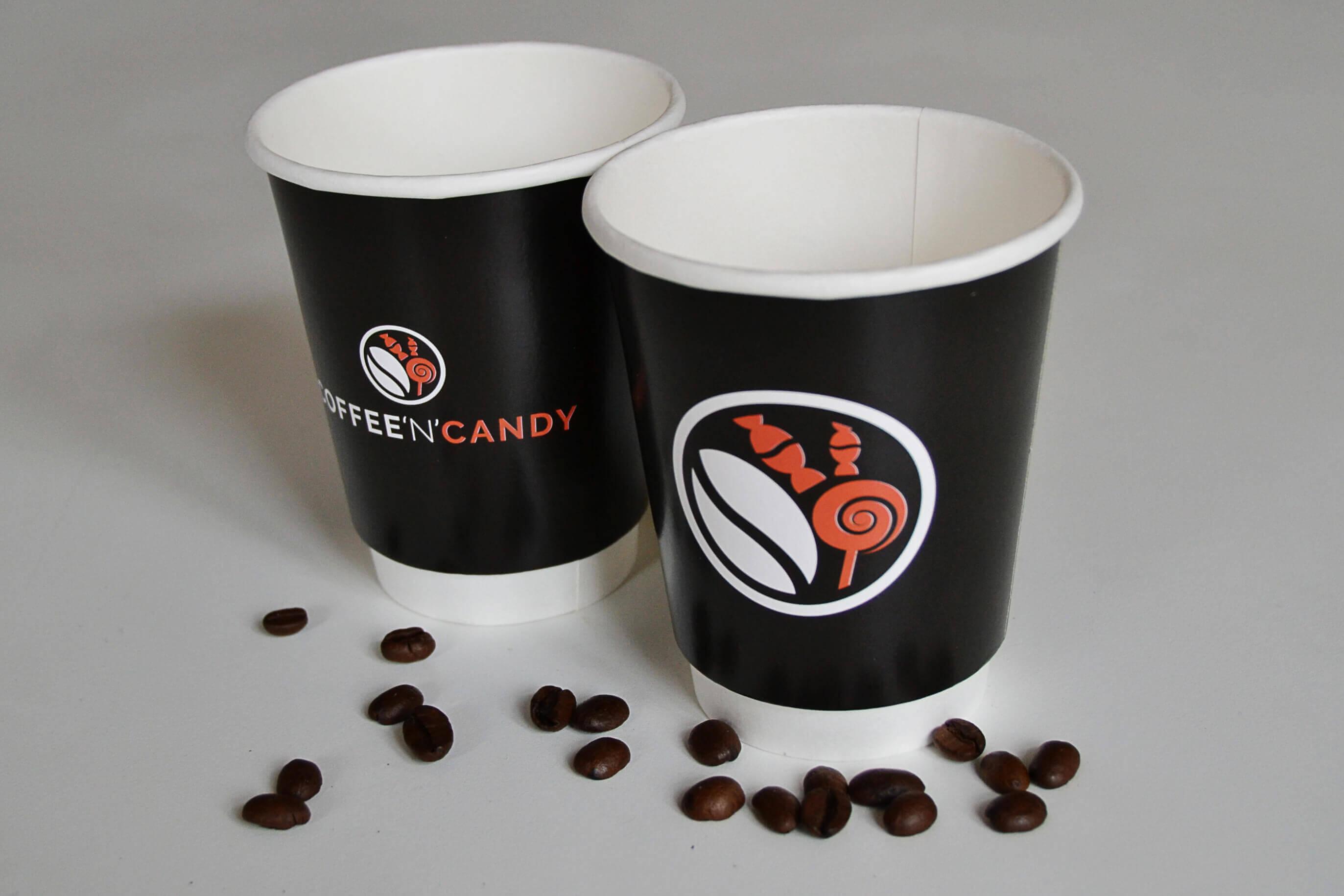 Coffee'n'candy dobbeltlags papkrus med matt overflade
