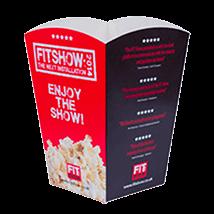 popcornbægre med logot tryk
