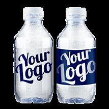 flaskevand med logo tryk