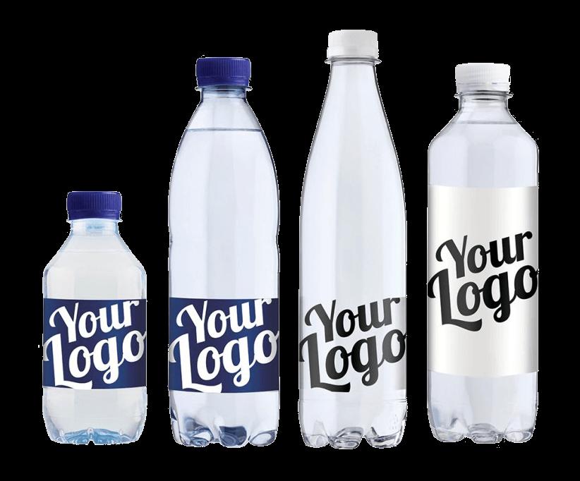 Vand med logo tryk